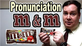 """How to Pronounce """"m & m"""" [ ForB English Lesson ]"""