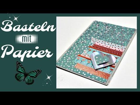 Basteln mit Papier | 100 Euro Bastelideen Challenge #1 | Karten basteln mit Washi Tape Ideen