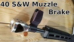 40 S&W Tanker Muzzle Brake Install & Review on Sub 2000