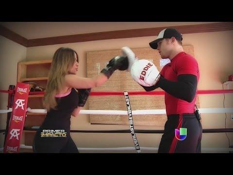 El Canelo Álvarez entrenó con Jackie Guerrido - Primer Impacto