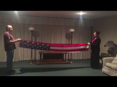 Folding a U.S. Flag