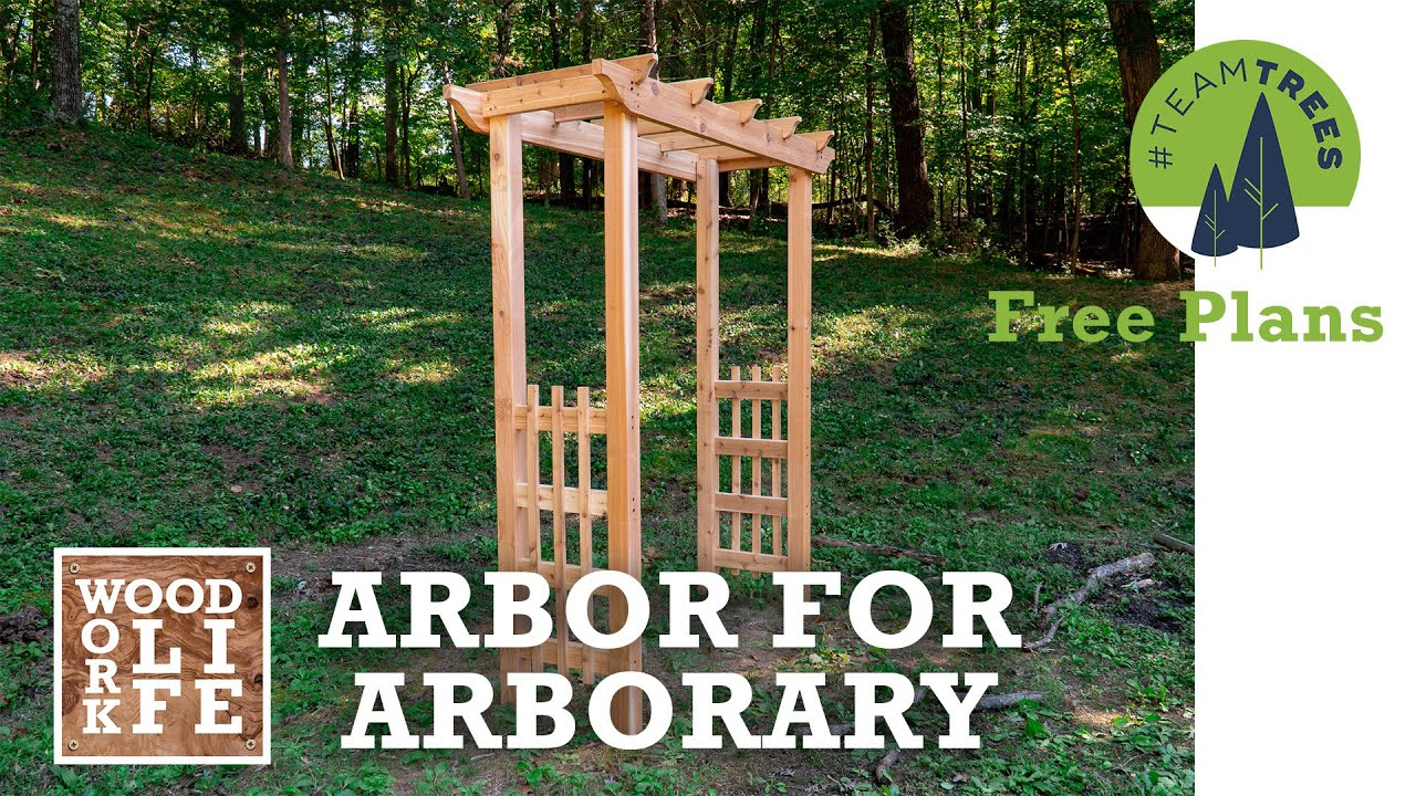 Download How to Build a Cedar Arbor for Arborary   One Day Build #TeamTrees