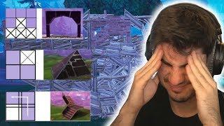 Fortnite win but every building piece is weirdly edited...