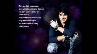 HD Adam Lambert HOLD ON Lyrics On Screen