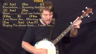 Here, There, and Everywhere (Beatles) Banjo Cover Lesson with Chords/Lyrics