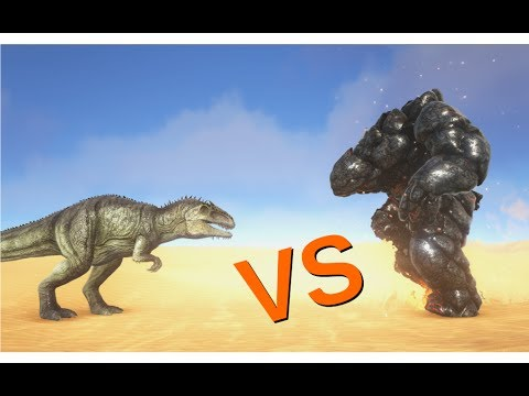Giganotosaurus vs Lava Golem || ARK: Survival Evolved || Cantex