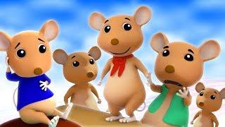 5 маленькие озорные крысы | прыгающая рифма | Five Little Naughty Rats