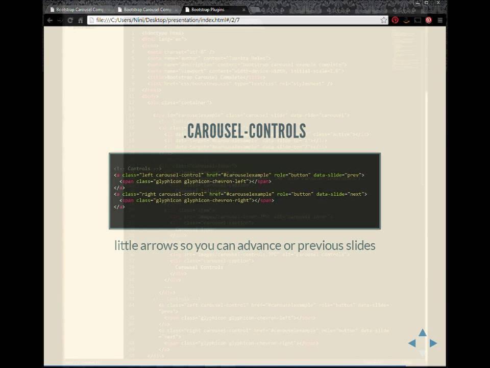 Bootstrap Carousel JS tutorial