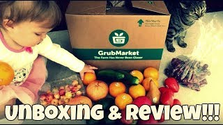 UNBOXING & REVIEW: GrubMarket - Produce Delivery!!!
