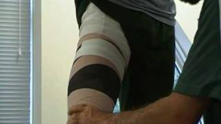 How To Wrap An Elastic Bandage: Thigh Compression