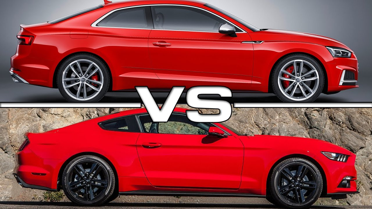 2017 Audi S5 Coupe Vs Ford Mustang Gt Youtube