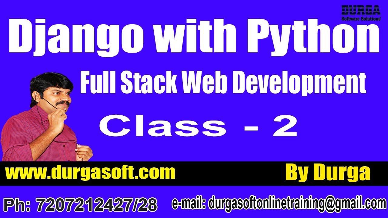 Web Development DJANGO with PYTHON Online Training by Durga