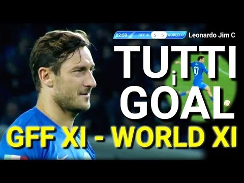 TUTTI I GOAL AMICHEVOLE BENEFICENZA GFF XI -WORLD XI ,DINAMO ARENA TBILISI LEGENDS OF WORLD FOOTBALL