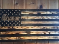 Lawn Care Rustic Flag from  Marine Corps Veteran