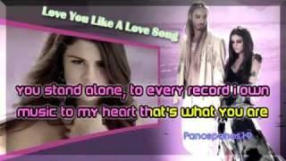 selena gomez love you like a love song karaoke lyrics (karaoke instrementical lyrics)