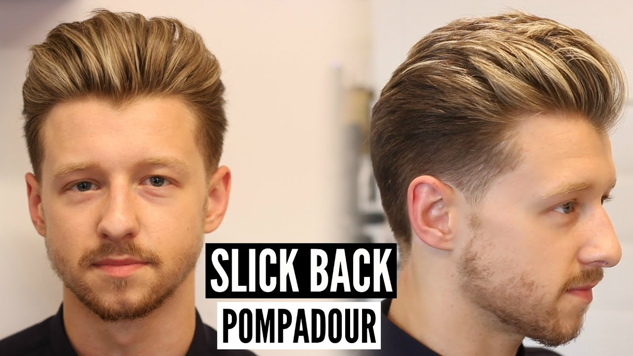 slick back pompadour hairstyle & haircut tutorial - mens hair 2019