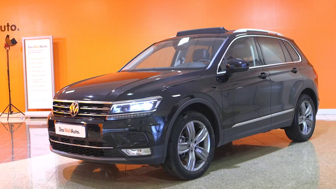 volkswagen tiguan occasion 2 0 tdi 190 bmt dsg7 4motion carat exclusive noir intense nacr youtube. Black Bedroom Furniture Sets. Home Design Ideas