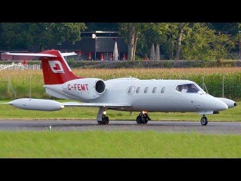 RARE! Learjet 36A * Fox Flight Air Ambulance * Take-Off at Bern