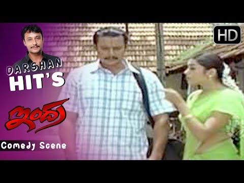 Bullet Prakash Comedy with Darshan | Kannada Comedy Scenes | Indra Kannada Movie