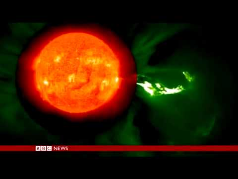 Solar Flares Footage Released By Nasa Bbc New Youtube