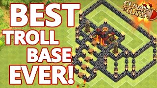 Clash Of Clans | WORLDS BEST TROLL BASE! Invisible Archer Glitch! (50K Subscriber Special)