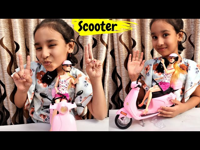 Munchkin Land Lovely Steering Scooter Toy with Travel Doll / UNBOXING  @Learn With Priyanshi