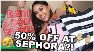 50% OFF AT SEPHORA?! BLACK FRIDAY HAUL 2017 | Roxette Arisa