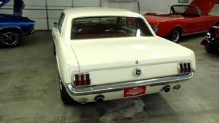 1965 Ford Mustang GT Trim 289 V8 White with Red Interior