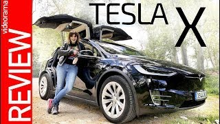 Tesla X review - el INCREIBLE coche con ALAS -