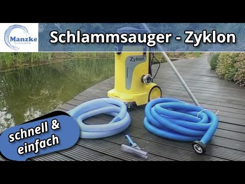 schlammsauger zyklon entfernung von bl ttern laub im teich so wird 39 s gemacht youtube. Black Bedroom Furniture Sets. Home Design Ideas
