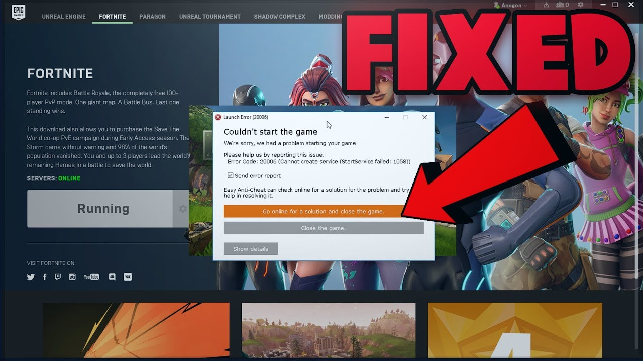 (FIX) Fortnite Launch Error! fortnite not launching: EasyAntiCheat not  installed, Fix it