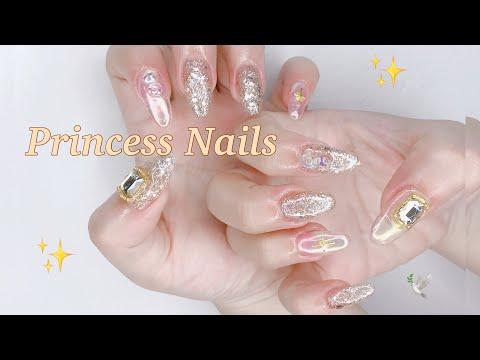 ☁️✨💖Princess nails 💅🏻☁️🕊   สอนทำเล็บแบบเจ้าหญิง by IrisxGigi