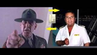 Sergente Hartman chiama Capitan Schettino - (Parodia di Capitan Scettino& Gregorio De Falco)