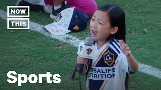 Little Girl Sings Amazing National Anthem at LA Galaxy vs Seattle Sounders Game | NowThis