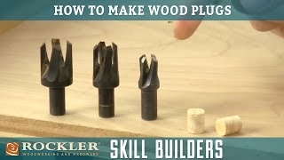How to Make and Install Wood Plugs   Rockler Skill Builders