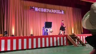 女性マジシャンのJUN☆MAKI(ジュンマキ)、岡山県 有漢でのステージ。風ぐ...
