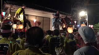 2018 長野県東御市 祢津喧嘩神輿 ぶつかる瞬間.