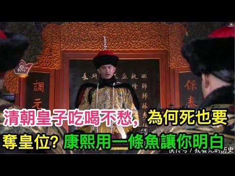清朝皇子吃喝不愁,為何死也要奪皇位?康熙用一條魚讓你明白