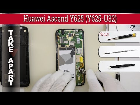 How to disassemble 📱 Huawei Ascend Y625 (Y625-U32) Take apart Tutorial