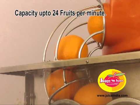 Orange Juice Machine Table Top With Automatic Feeder Youtube