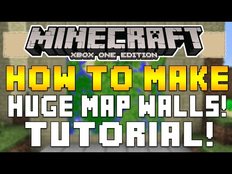 Minecraft Xbox One & PS4 - TIPS FOR CREATING A MAP WALL USING ITEM ...