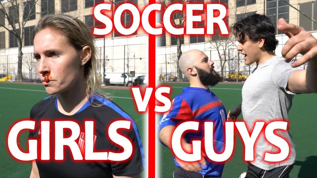 Girls Soccer VS Guys Soccer - YouTube