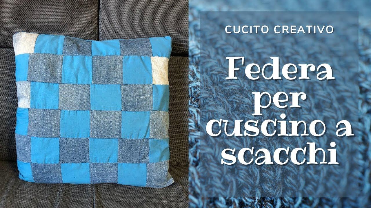 Riciclo Jeans Federa Cuscino Patchwork Facile Diy Reusing Denim How To Make A Pillow Case Youtube