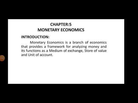 Chapter-5 Monetary economics