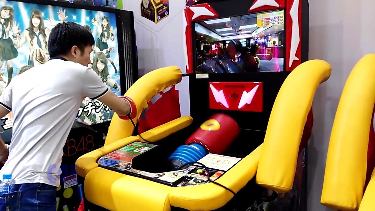 Sonic Blast Heroes Arcade Game Punch Machine - YouTube