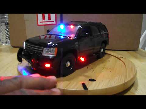 1/24 POLICE : Throop Pa. Police stealth Tahoe with LEDS