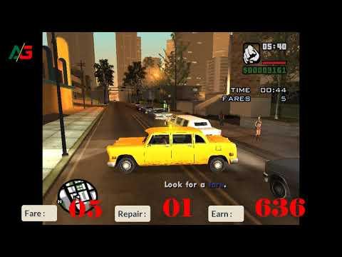 Taxi Mission Challenge 2 (50+ Fares) | GTA SA | Ali's Gaming | Ashraf Ali