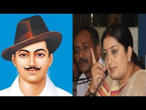 Smriti Irani to Take Corrective Measures on Bhagat Singh Controversy