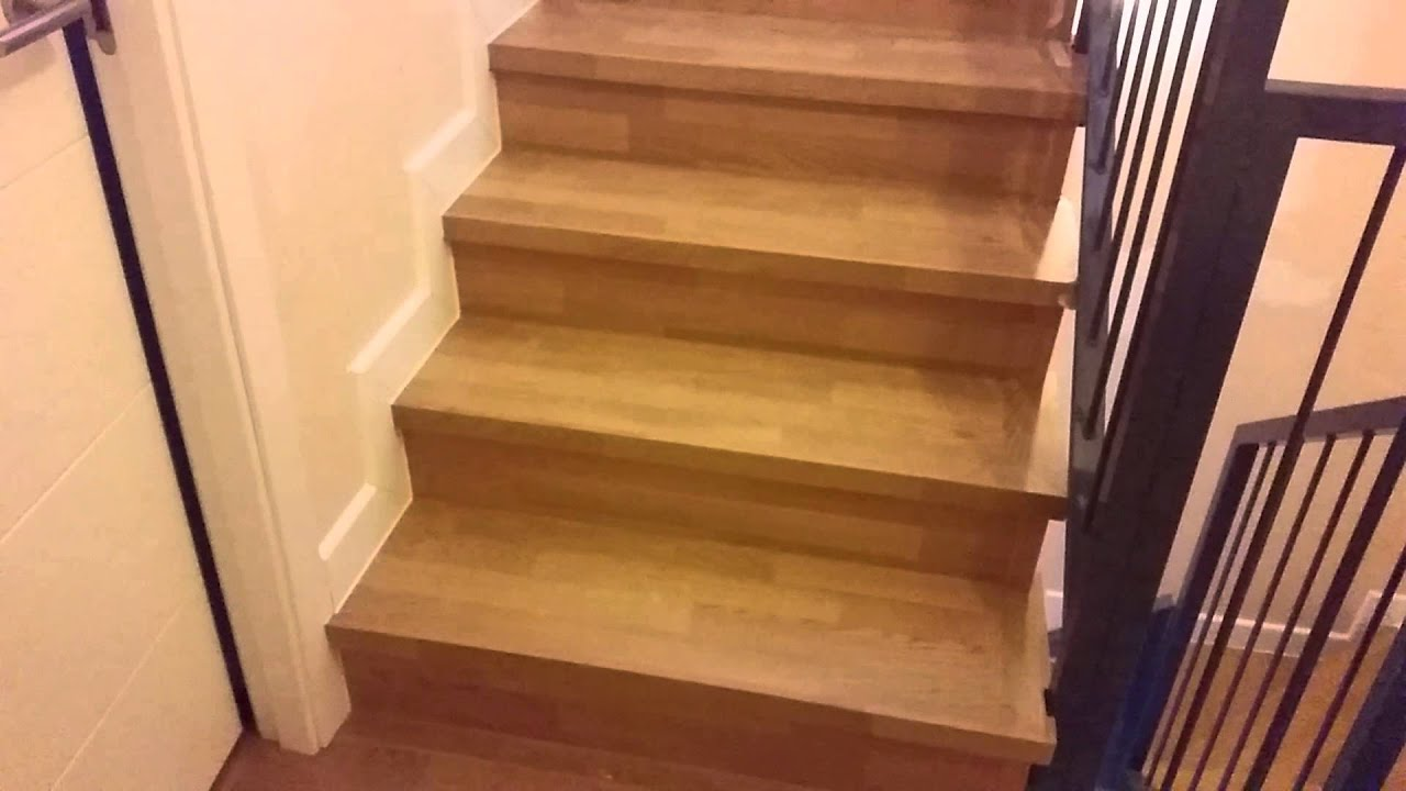 Escaleras cubiertas con tarima laminada youtube for Precio de escaleras en easy