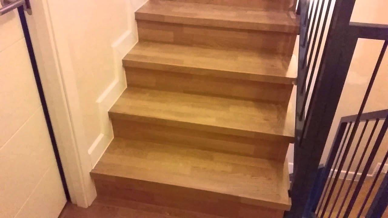 Escaleras cubiertas con tarima laminada  YouTube